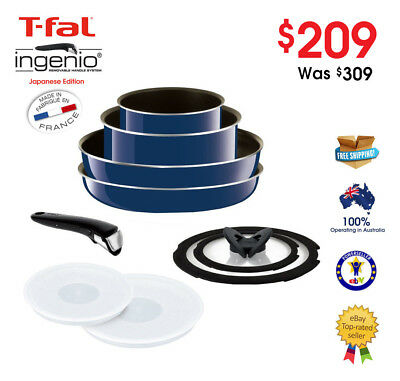 Tefal Ingenio 9 Pcs Cookware Set Blue - SAVE $110 - MADE IN FRANCE
