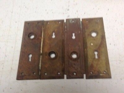 Vintage Door Knob Backplate Cover Hardware Antique Lot Shabby Chic Project