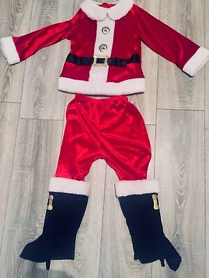 **boys Two Piece Santa Suit Age 5-6 Years**