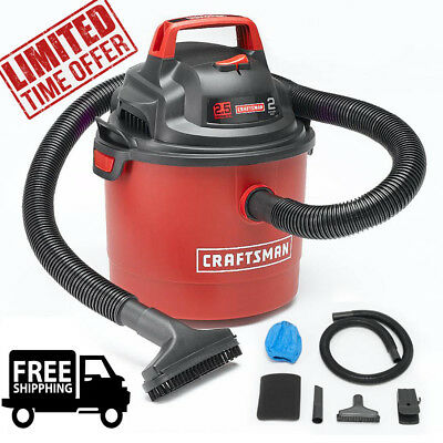 Portable Wet/Dry Vac Wall Mount Car Boat Garage Vacuum 2.5 Gallon 2 Peak HP Gift