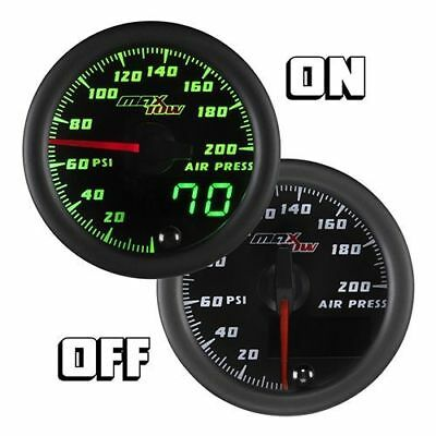 MaxTow 52mm Black Face Air Pressure Air Suspension Gauge w Sensor - MT-DV13