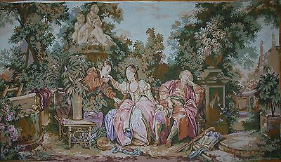 "Large  vintage French Wall Hanging Tapestry  68"" x 39"""
