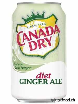 Canada Dry Diet Ginger Ale (12x355ml) - US Import!