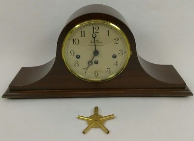 Antique Vintage Seth Thomas Chime Westminster Mantle Clock w/ Key German Made A6