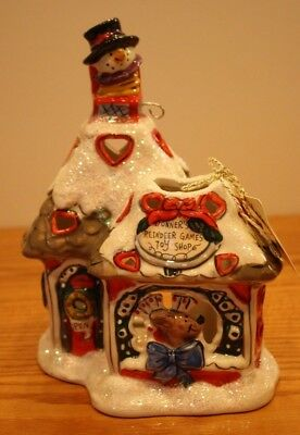 Christmas Blue Sky Clayworks Donners Reindeer Games Toy Shop T Light Goldminc