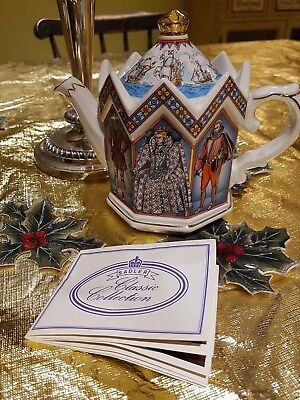 Sadler Tea Pot Teapot Elizabeth I Queen Of England Francis Drake Walter Raleigh