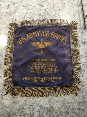 WWII US ARMY AIR FORCES Banner Flag Aviation Militaria Propeller Wings FLYING