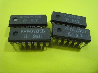 4 stuck Vintage Opamps КР140УД5Б
