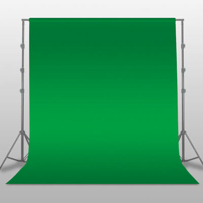 3x3M Photo Studio Screen Black White Green Background Backdrop Light Stand Kit