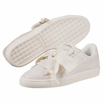 best website 6d96b cb913 NEW WOMEN'S PUMA Basket Heart NS Opulence Sneaker - 364108-02 White