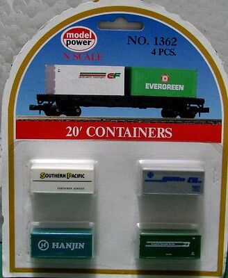 4 x 20' Containers N Scale Model Power #1362