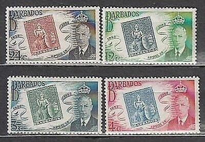 Barbados - Mail 1952 Yvert 208/11 Mnh 1º seal of Barbados