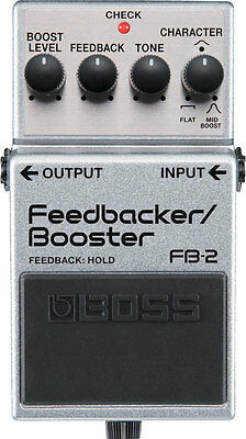 Boss Fb-2 Feedbacker Booster Guitar Effects Pedal + 2 Free Plectrums