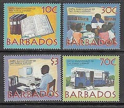 Barbados - Mail 1997 Yvert 966/9 Mnh Public library