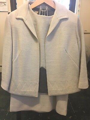 Vtg Saks Fifth Ave 3 Piece Wool Suit Made in Switzerland Size 8