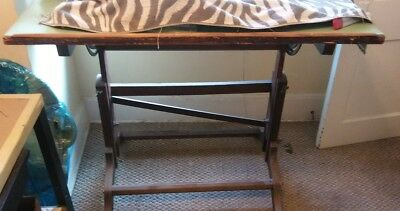 """LARGE RARE VTG 1930s FREDERICK POSTS DRAFTING DRAWING TABLE  72""""W X 46"""" D X32"""" H"""