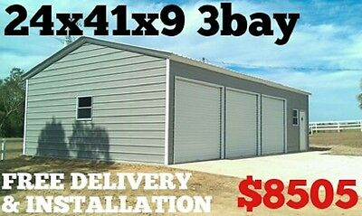 Metal Building Carport Garage RV Cover Shed Warehouse Shelter Storage Canopy