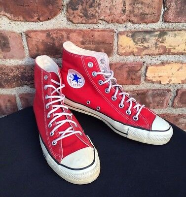 VTG Converse All Star High Top Chucks Red 1970s-80s Men's 8 Made In USA