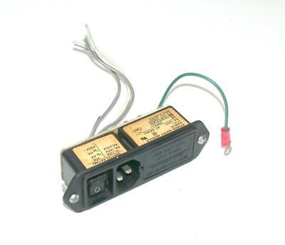Corcom  Svm1S  Power Entry Module 6 Amp 120 Vac