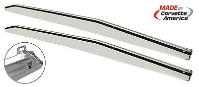 New 1970-77 C3 Corvette Rocker Panel Moldings - Pair - Reproductions w/Blemishes