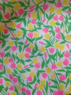 Vintage 1960s LILLY PULITZER The Lilly Yellow Green Floral Skirt Size 10/12