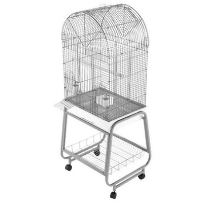Open Dome Top Cage With Removable Tray