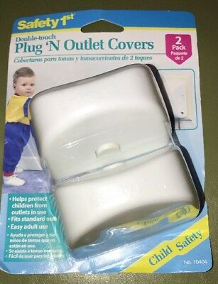 Safety 1st Double-touch Plug 'N Outlet Covers - 2 Pack - Sealed!