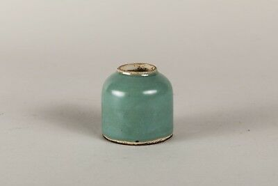 19th Chinese Antique Green Glazed Small Washer BON0035