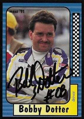 Bobby Dotter Autographed 1991 Maxx Racing Nascar Racer Photo Trading Card #235