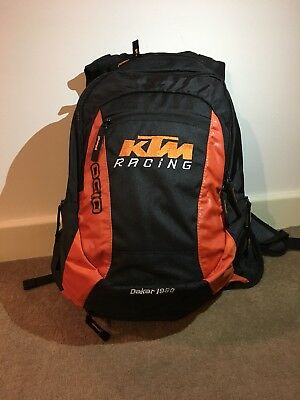 2019 Ktm Racing Style Motocross Dirt Bike Backpack Outdoor Black Bag Rain Cover