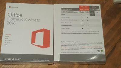 Microsoft Office Home And Business 2016 32/64-Bit DVD Retail Version New