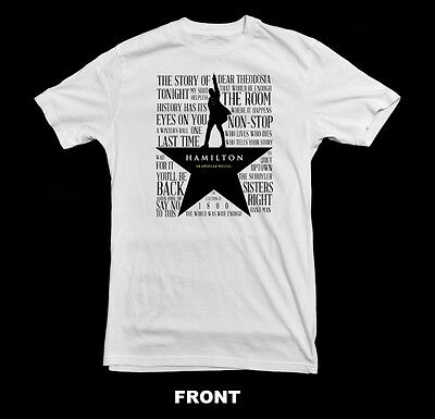 Hamilton The Broadway Musical T-Shirt ~New~  Various Sizes