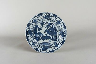 Late Ming Style Export Chinese Antique Blue&White Dish BON0062