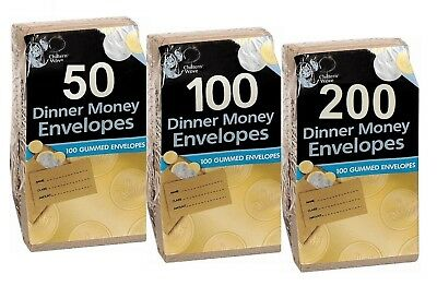 50 - 1000 Small Brown Dinner Money Wages Petty Cash Envelopes