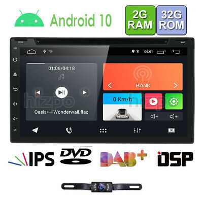 """Android 6.0 WIFI 7"""" Double DIN Car Radio Stereo DVD Player GPS Navigation+Camera"""