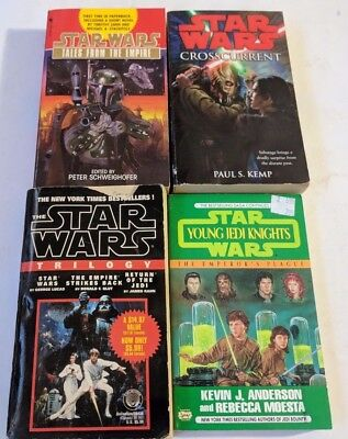 STAR WARS LOT OF 4 PB TALES EMPIRE YOUNG JEDI CROSSCURRENT EU LEGENDS 90's ETC