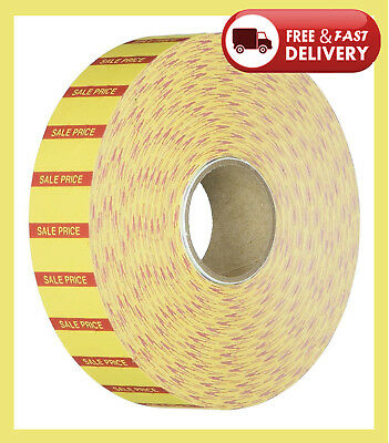 Monarch Marketing Sale Price Labels, for 1131, .78 in. x .44 in., 3-RL, Yellow