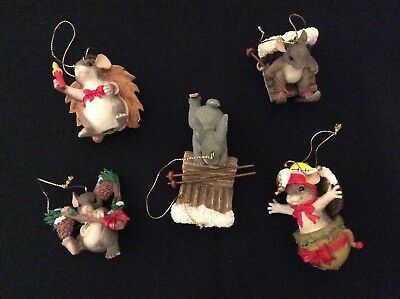 Charming Tails Ornaments Lot of 5
