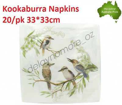 Kookaburra Napkins Luncheon paper Napkin 3ply Flower wedding Party Serviette NEW