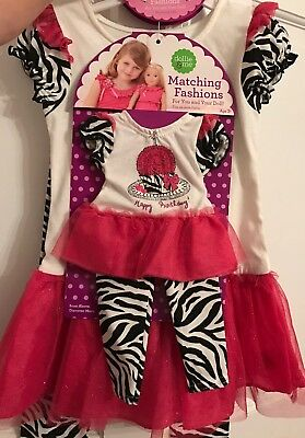 Dollie & Me Girl and Doll Matching HAPPY BIRTHDAY Outfit Fits American Girl NWT