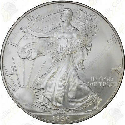 1996 1 Oz American Silver Eagle – Brilliant Uncirculated – Sku #1390
