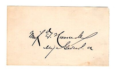 HANCOCK, Winfield Scott: Civil War Union General - Original SIGNATURE with Rank