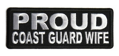 By Ivamis Trading P5728 Free Ship 4x1.5 inch Proud Coast Guard Wife Patch