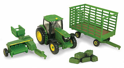 John Deere Toy 1:64 JD 6R Tractor w/small square baler (45439) (PN:  45439)