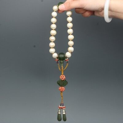 Chinese Exquisite Hand-carved pearl Bracelet
