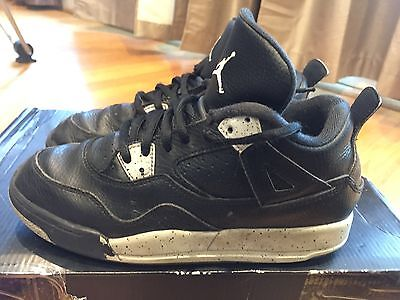 2014 Youth Nike Air Jordan IV 4 Oreo Black Tech Grey Cement Size 3Y Used Rare