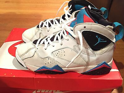 2012 Youth Nike Jordan VII 7 Orion Blue White Infrared Size 6Y Used Rare