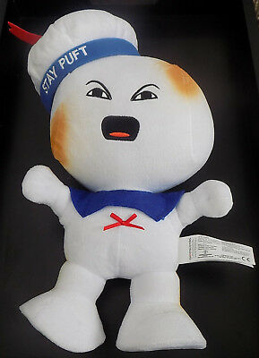 Ghostbusters Stay Puff Marshmallow Man Plush Doll Play Ghostbusters Theme Song