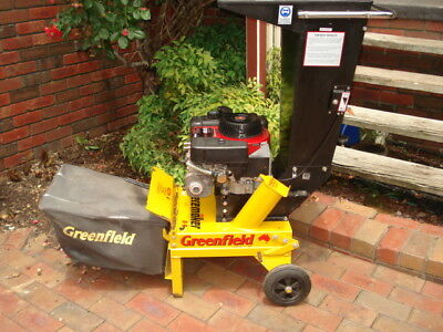Greenfield Mulcher/Chipper/Shredder with catcher