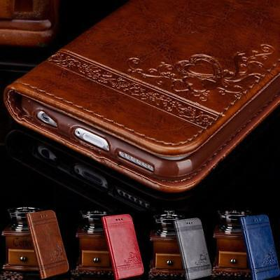 For Samsung Galaxy S9 S7 S8 Plus Magnetic Flip Leather Wallet Case Cover Stand